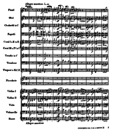 Concerto No. 1 for Piano and Orchestra  (Theme from Movement I)