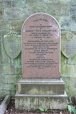 Robert Reid Kalley - The grave of Rev Dr Robert Reid Kalley, Dean Cemetery, Edinburgh