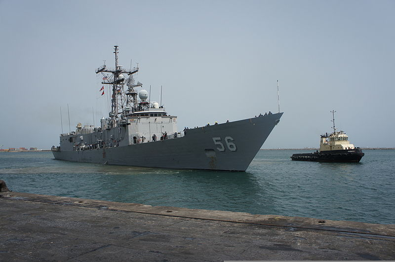 File:The guided missile frigate USS Simpson (FFG 56), the flag ship of Africa Partnership Station (APS) 2012, arrives in Tema, Ghana, for a three-day port visit 120218-N-JL721-046.jpg