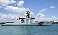 The national security cutter USCGC Waesche (WMSL 751) arrives at Joint Base Pearl Harbor-Hickam, Hawaii, June 25, 2014, to participate in Rim of the Pacific (RIMPAC) 2014 140625-N-WF272-110.jpg