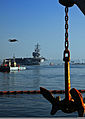 The nimitz-class aircraft carrier USS Ronald Reagan (CVN 76) passes historic Point Loma, Calif., as it transits San Diego Bay, Calif., while returning to its homeport after a regularly scheduled underway, Nov 111116-N-ZS026-260.jpg