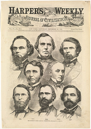 "Declaration of the Immediate Causes Which Induce and Justify the Secession of South Carolina from the Federal Union - ""The seceding South Carolina delegation"" (Harper's Weekly, December 22, 1860)"