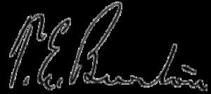 Theodore E. Burton - Image: Theodore Elijah Burton signature