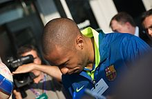 Photo de Thierry Henry, de haut