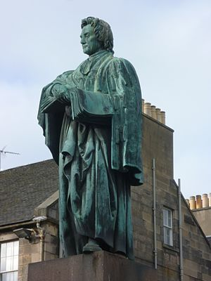 Scottish religion in the nineteenth century - The statue of Thomas Chalmers in Edinburgh