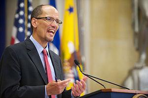 Tom Perez - Perez giving a speech in Washington D.C. on July 26, 2012