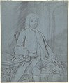 Three-Quarters-Length Portrait Study of a Man Seated at a Desk with a Dog MET DP800730.jpg
