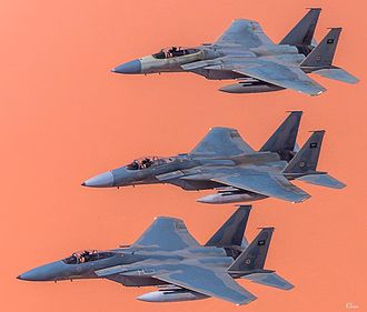 Yemeni Civil War (2015–present) - Three Saudi F-15Cs from 13th Squadron