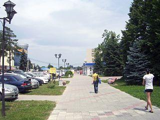 Timashyovsk Town in Krasnodar Krai, Russia
