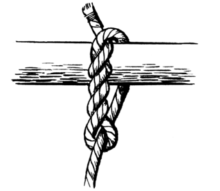Timber hitch a knot used to secure a line to a log or spar