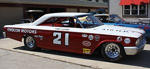 1963 NASCAR Grand National Series - A replica of the Ford Galaxie in which Tiny Lund won the 1963 Daytona 500 for Wood Brothers Racing