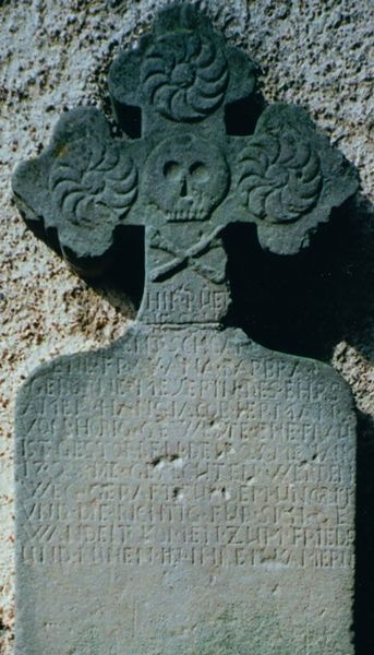 Pierre tombale du 18e siècle