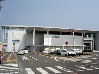 Tomobe Station Railway station in Kasama, Ibaraki Prefecture, Japan
