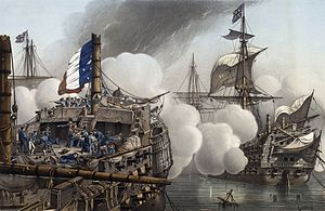 "HMS Tonnant (1798) - ""HMS Tonnant"" at the Battle of the Nile"