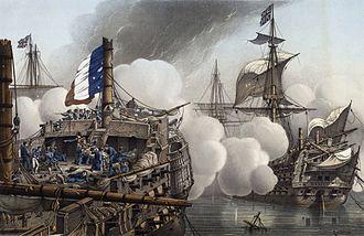 "HMS Tonnant - ""HMS Tonnant"" at the Battle of the Nile"