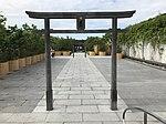 Torii of Tetsudo Shrine on top of Hakata Station.jpg
