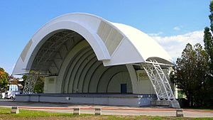 CNE Bandshell - The Bandshell with a modern canopy extension (ca 2007)