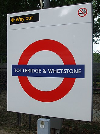 Totteridge & Whetstone tube station - Image: Totteridge & Whetstone stn roundel
