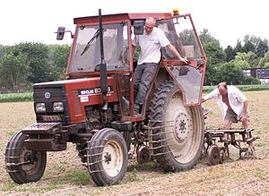 Cultivator - A tractor-mounted tiller