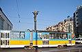 Tram in Sofia near Sofia statue 2012 PD 036.jpg