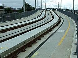 Tram lines at Murrayfield (geograph 4018241).jpg