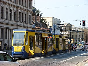 Trams in Toruń - Konstal 805NaND. Sept. 2016
