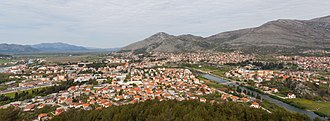 Trebinje - April 2014 panorama of Trebinje from the nearby Crkvina hill.