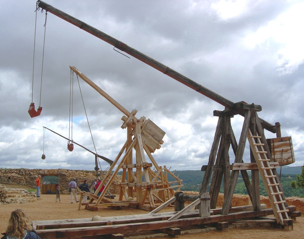 Trebuchet wikipedia for Catapult design plans for physics