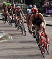 Triathlon cyclists at the London Olympics.jpg