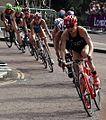 Triathlon cyclists at the London Olympics.jpg