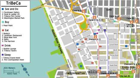 Manhattan Tribeca Travel Guide At Wikivoyage