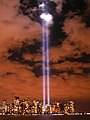 Tribute in Light from Jersey City, NJ, September 11, 2006.jpg