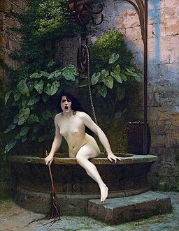 Truth Coming Out of Her Well to Shame Mankind, 1896