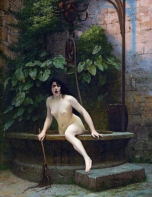 Truth Coming Out of Her Well to Shame Mankind, 1896.jpg