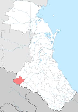 Tsuntinsky District - Image: Tsuntinsky district locator map