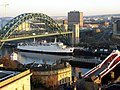 Tyne Bridge and Swing Bridge from the Castle Keep - geograph.org.uk - 1160058.jpg