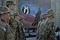 U.S. Airmen with the 455th Air Expeditionary Wing stand in formation during a retreat ceremony at Bagram Airfield in Parwan province, Afghanistan, Sept 140911-F-PB969-154.jpg