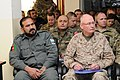 U.S. Army Maj. Gen. James B. Laster, right, deputy chief of staff for Combined Joint Operations, International Security Assistance Force, Joint Command, Afghan Lt. Gen. Fazulldin of Afghan National Police and 120126-A-OR397-072.jpg
