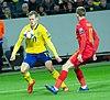 UEFA EURO qualifiers Sweden vs Romaina 20190323 Viktor Claesson and Nicusur Bancu 21.jpg