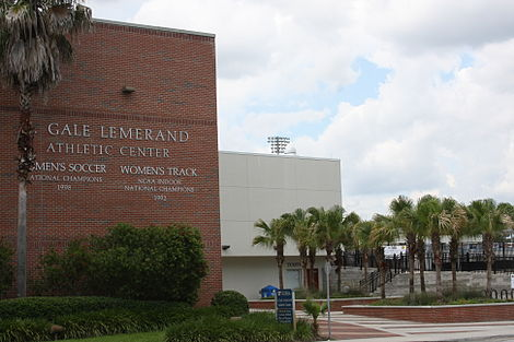 The Lemerand Center, home of the UAA. UF LemerandCenter.jpg