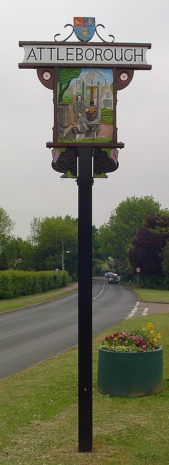 Attleborough - Village sign in Attleborough