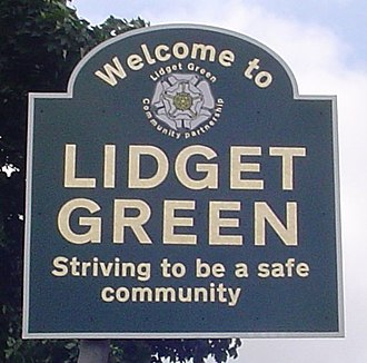 Great Horton - Signpost in Lidget Green