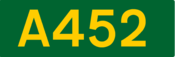 A452 road shield