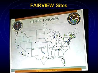 Fairview (surveillance program) - FAIRVIEW: Map shown on Brazilian television in 2013