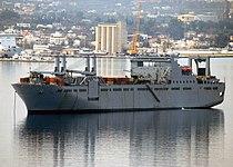 USNS Bob Hope (T-AKR 300) at anchorage in Souda harbor.jpg