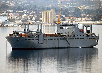 Large, Medium-Speed Roll-on/Roll-off - USNS Bob Hope at anchorage in Souda harbor
