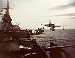 USS Biloxi (CL-80) catapults a Curtiss SO3C Seamew in 1943.jpg