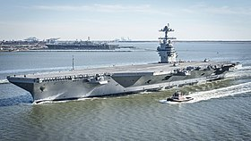 USS Gerald R. Ford im April 2017