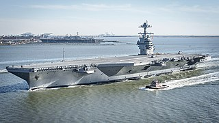 <i>Gerald R. Ford</i>-class aircraft carrier Class of supercarrier for the United States Navy
