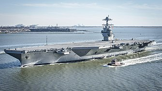 USS Gerald R. Ford (CVN-78) underway on 8 April 2017.JPG